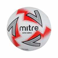 Mitre Super Dimple Football White/Blue Футболни топки