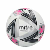 Mitre Футболна Топка Ultimatch Plus Hyperseam Football White Футболни топки