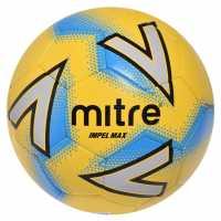 Mitre Футболна Топка Impel Max Football YLW/SVR/BLU Футболни топки
