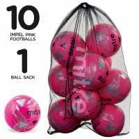Mitre Футболна Топка Impel Football Pack Pink Футболни топки