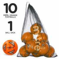 Mitre Футболна Топка Impel Football Pack Orange Футболни топки