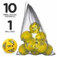 Mitre Футболна Топка Impel Football Pack Yellow Футболни топки
