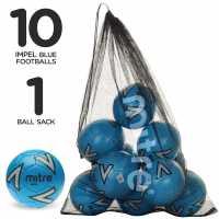 Mitre Футболна Топка Impel Football Pack Blue Футболни топки