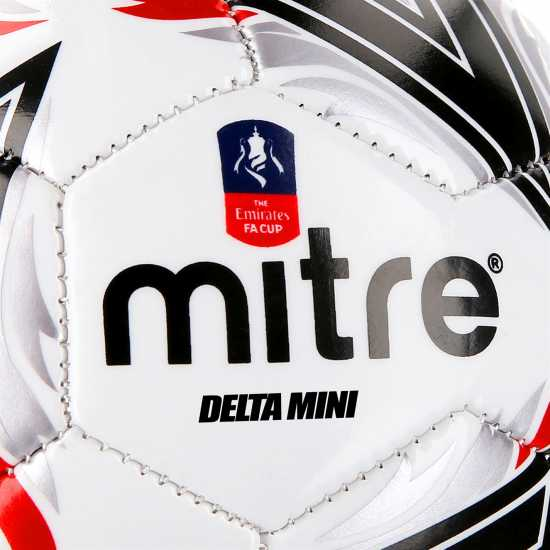 Mitre Delta Mini Fa Cup Football White Футболни аксесоари