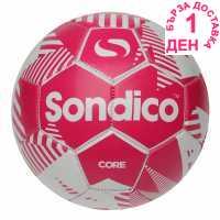Sondico Футболна Топка Core Xt Football Pink/White Футболни топки