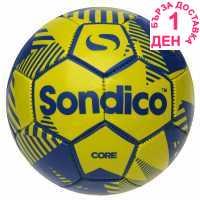 Sondico Футболна Топка Core Xt Football Fluo Yell/Blue Футболни топки
