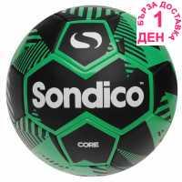 Sondico Футболна Топка Core Xt Football Black/Green Футболни топки