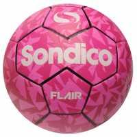 Sondico Футболна Топка Flair Football Pink/Silver Футболни топки