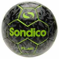 Sondico Футболна Топка Flair Football Black/Green Футболни топки