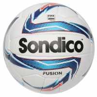 Sondico Футболна Топка Fusion Football White/Blue/Red Футболни топки