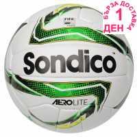 Sondico Футболна Топка Aerolite Football White/Blk/Green Футболни топки