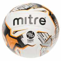 Mitre Футболна Топка Ultimatch Hyperseam Football White/Orange Футболни топки