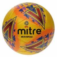 Mitre Футболна Топка Efl Delta Replica Football Fluo Yellow Футболни топки