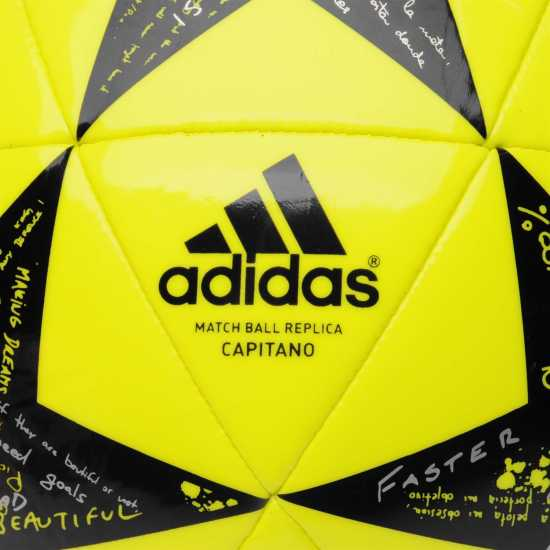 Adidas Футболна Топка Uefa Champions League Capitano Final Football Yellow/Black Футболни топки