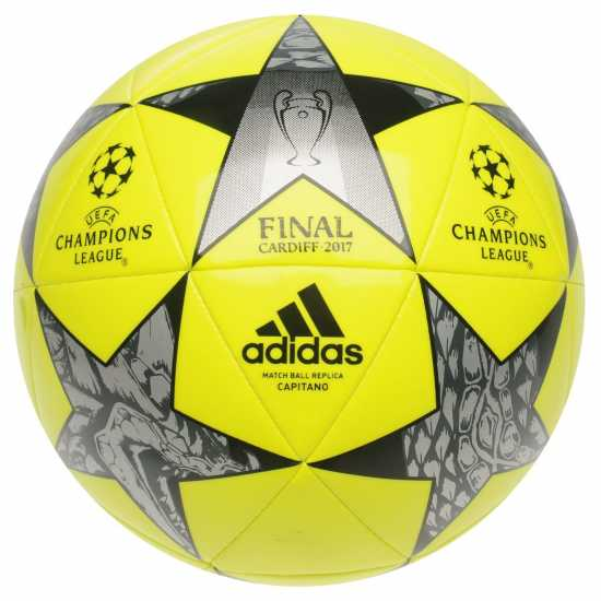 Adidas Футболна Топка Uefa Champions League Final 2017 Football SolarYellow Футболни топки