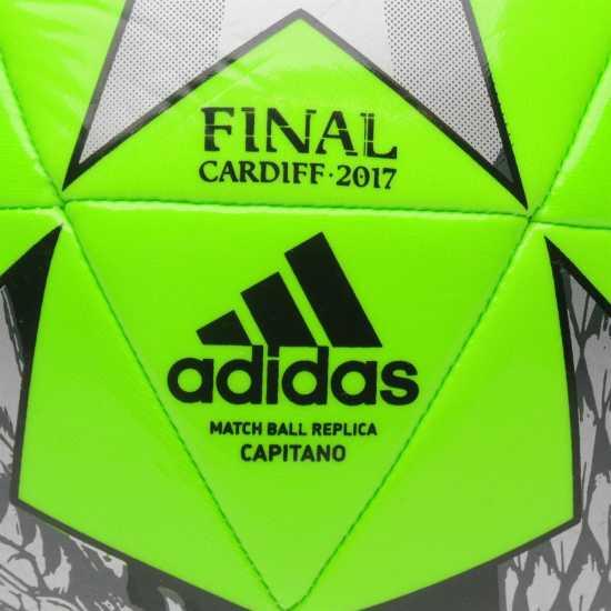 Adidas Футболна Топка Uefa Champions League Final 2017 Football SolarGreen Футболни топки