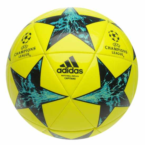 Adidas Uefa Champions League Final 2017 Capitano Football Solar Yellow Футболни топки