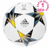 Adidas Ucl Final Kiev Capitano Replica Football White/Black/Yel Футболни топки