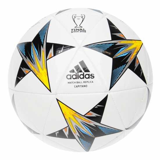 Adidas Ucl Final Kiev Capitano Replica Football White/Black/Yel Футболни топки