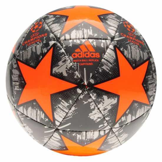 Adidas Uefa Champions League Capitano Replica Football Silver/Orange Футболни топки