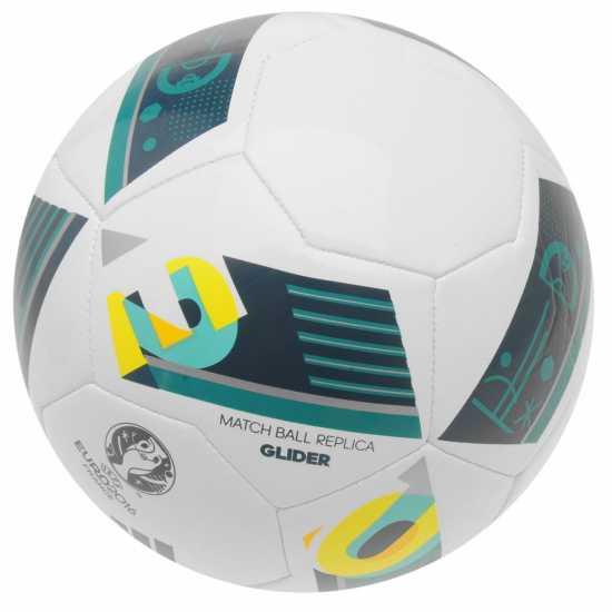 Adidas Футболна Топка Uefa Euro 2016 Glider Replica Football White/Green Футболни топки