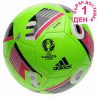 Adidas Футболна Топка Uefa Euro 2016 Glider Replica Football Solar Green Футболни топки