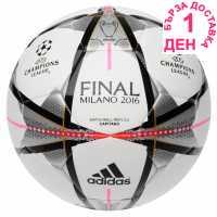 Adidas Футболна Топка Ucl Final Glide Replica Football White/Blk/Silv Футболни топки