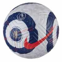 Nike Premier League Official Match Flight Football White/Blue/Red Футболни топки