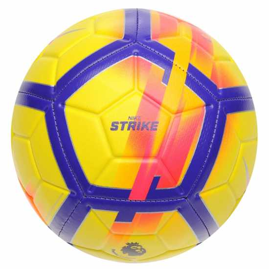 Nike Strike Premier League Football 2018 2019 Yellow/Purple Футболни топки