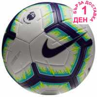 Nike Strike Premier League Football 2018 2019 White/Purple Футболни топки