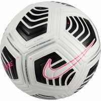 Nike Футболна Топка Strike Football White/Blk/Pink Футболни топки