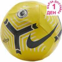 Nike Футболна Топка Premier League Pitch Football Yellow/Wht/Blk Футболни топки