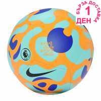 Nike Футболна Топка Premier League Pitch Football Blue/Orange Футболни топки