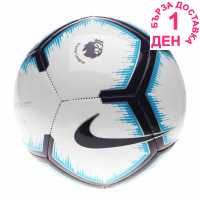 Nike Футболна Топка Pitch Premier League Football White/Purple Футболни топки