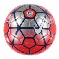 Nike Футболна Топка Pitch Premier League Football Red/Silver Футболни топки