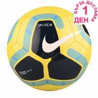 Nike Футболна Топка Pitch Premier League Football Yellow Футболни топки