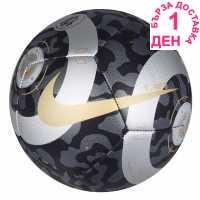 Футболна Топка Nike Premier League Pitch Football Black/Silver Футболни топки