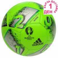 Adidas Футболна Топка Euro 16 Glider Football Green/Silver Футболни топки