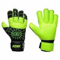 Atak Вратарски Ръкавици Webs Goalkeeper Gloves Green/Black Вратарски ръкавици и облекло