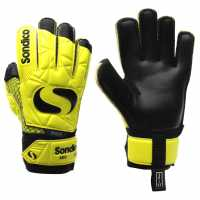 Sondico Детски Вратарски Ръкавици Aquaspine Elite Goalkeeper Gloves Junior Fluo Yell/Black Ръкавици шапки и шалове