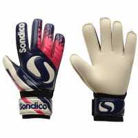 Sondico Вратарски Ръкавици Pro Junior Goalkeeper Gloves Purple/Orange Ръкавици шапки и шалове