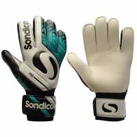 Sondico Вратарски Ръкавици Pro Mens Goalkeeper Gloves White/Teal Вратарски ръкавици и облекло