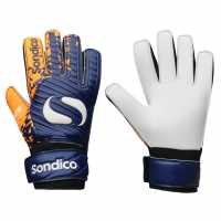 Sondico Детски Вратарски Ръкавици Blaze Goalkeeper Gloves Junior Navy/Orange Вратарски ръкавици и облекло