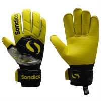 Sondico Мъжки Ръкавици Elite Rolltech Goalkeeper Gloves Mens Black/Yellow Ръкавици шапки и шалове