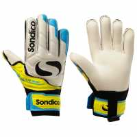 Sondico Детски Вратарски Ръкавици Elite Protech Goalkeeper Gloves Junior White/Yellow Вратарски ръкавици и облекло