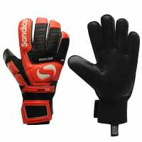 Sondico Вратарски Ръкавици Neosa Dual Mens Goalkeeper Gloves Black/Red Ръкавици шапки и шалове