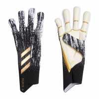 Вратарски Ръкавици Adidas Predator Pro Goalkeeper Gloves Fingersave Black/Gold Вратарски ръкавици и облекло