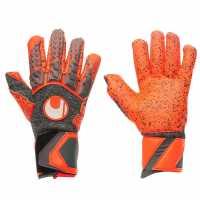 Uhlsport Вратарски Ръкавици Aerored Supergrip Goalkeeper Gloves Dk Grey/Red Футболни аксесоари
