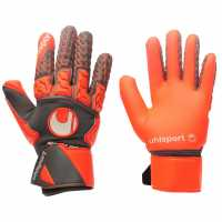Uhlsport Мъжки Ръкавици Aerored Absolutgrip Goalkeeper Gloves Mens Dk Grey/Red Футболни аксесоари