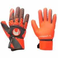 Uhlsport Мъжки Ръкавици Aerored Absolutgrip Goalkeeper Gloves Mens Dk Grey/Red Футболни аксесоари